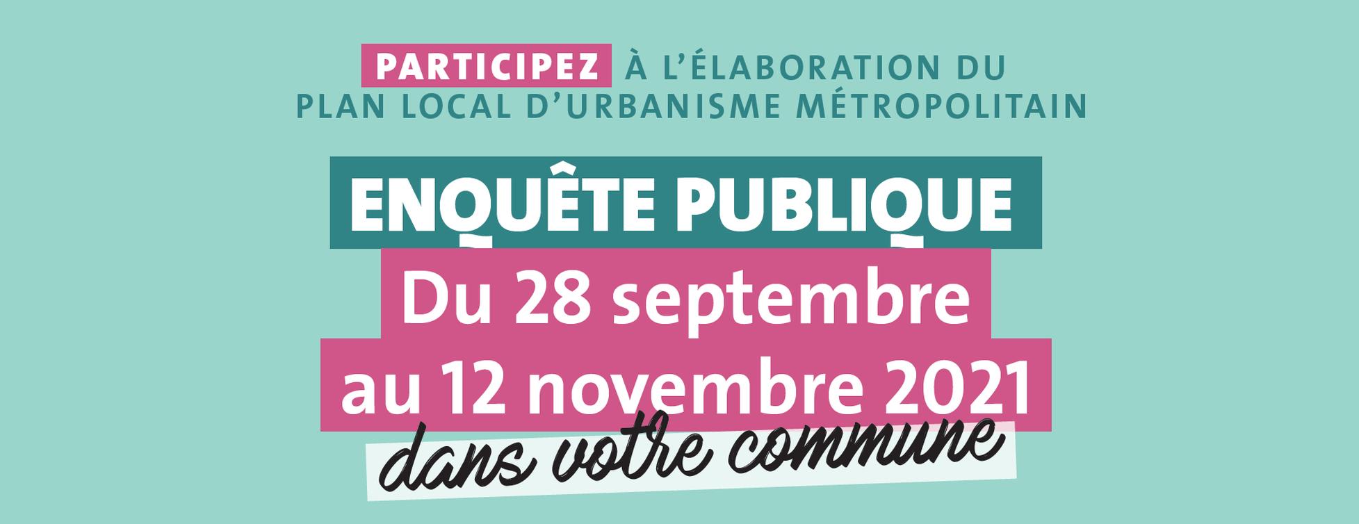 Enquête publique du Plan Local d'Urbanisme
