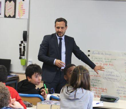 Un ministre à l'école Jean Vilar